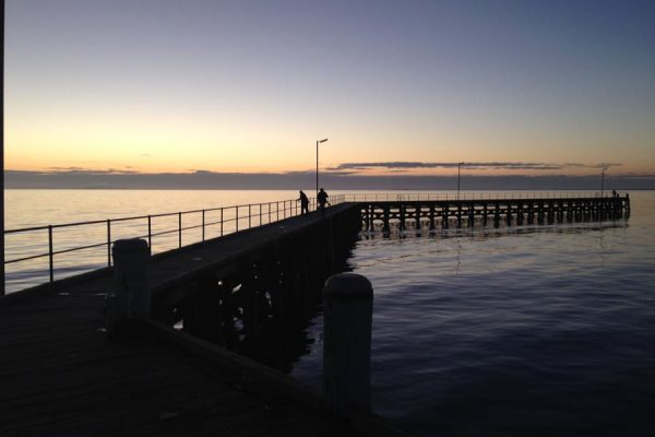Country locations such as Moonta Bay, South Australia have jetties ideal for squidding.
