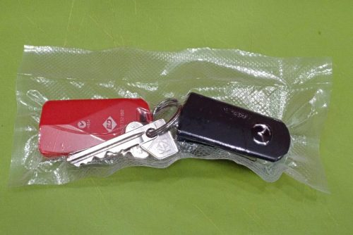 Electronic car and garage keys are safe from water and still usable in a sealed bag