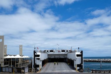 SeaLink  KI ferry - drive on drive off from Cape Jervis to Penneshaw.