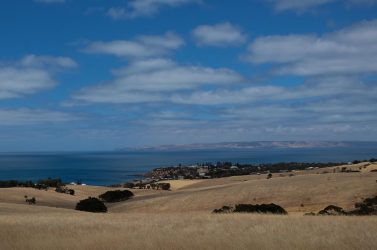 View from Penneshaw back to Cape Jervis.