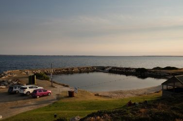 Kingscote's tidal swimming pool.